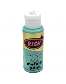 Rich Acrylfarbe Metallic Grün 70ml