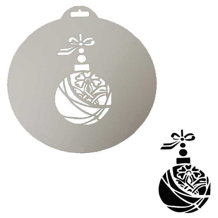 Kugel Für Tannenbaum.Tannenbaum Kugel Deko Schablonen Stencil