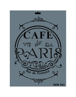 CAFE de PARİS Deko Schablonen