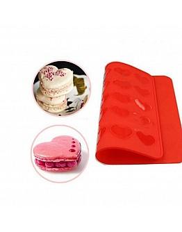 Herz Macarons Backmatte 24