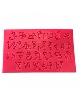 Alphabet mit Herz Motiv Silikon Form ca. 2 cm