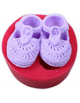 Baby Schuhchen Silikon Form ca. 8x7 cm