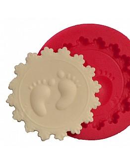 Babyfüße Spitzenrand Dekoration Silikonform
