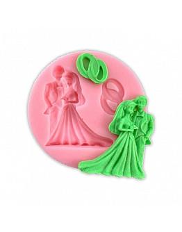 Braut und Bräutigam  Silikon Form ca. 9 cm
