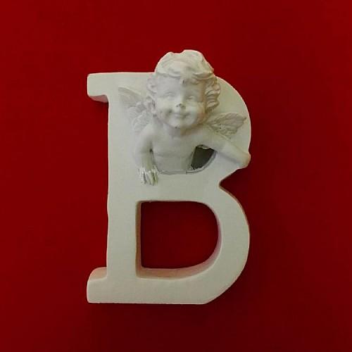 Buchstaben B mit Engel Silikonform