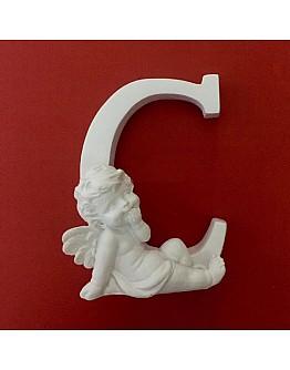 Buchstaben C mit Engel Silikonform