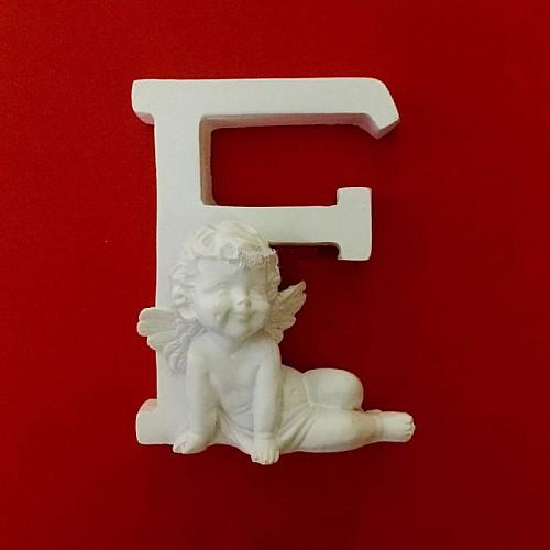 Buchstaben F mit Engel Silikonform