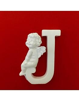 Buchstaben J mit Engel Silikonform