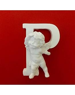 Buchstaben P mit Engel Silikonform