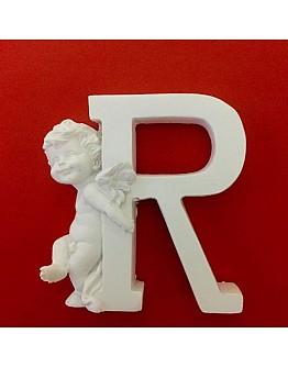 Buchstaben R mit Engel Silikonform