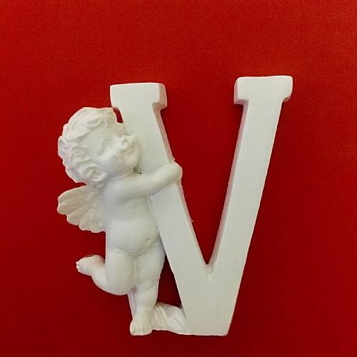 Buchstaben V mit Engel Silikonform