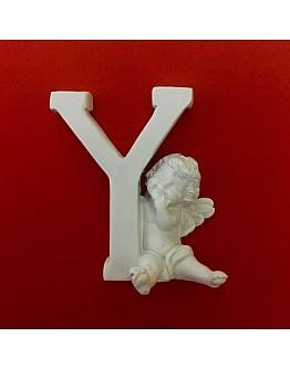 Buchstaben Y mit Engel Silikonform
