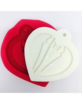 Bräutigam Herzform zum Aufhängen Silikonform