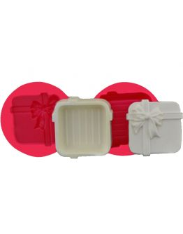 Geschenkbox mit Schleife Silikonform