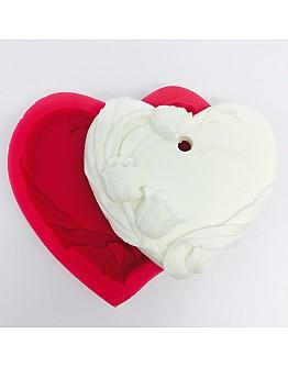 Herz mit Tulpe zum Aufhängen Silikonform