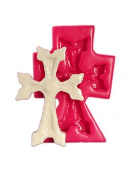 Kreuz Silikonform ( SOAP CROSS MOLD )