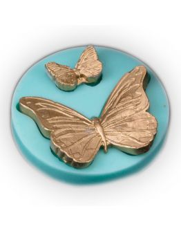 Schmetterlinge 2 er Set Groß und Klein Cupcake Dekoration Silikon Formen