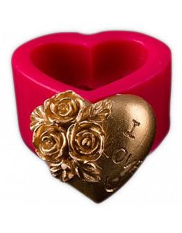 Herz Blumen mit l Love You Beschreibung  Silikon Formen