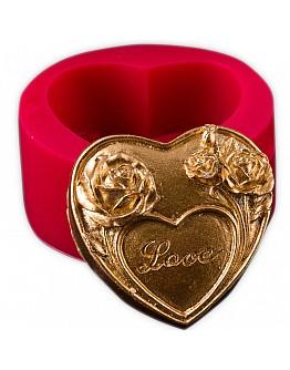 Herz Blumen mit  Love Beschreibung  Silikon Formen