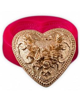 Herz mit Blumen Motıv Silikon Form