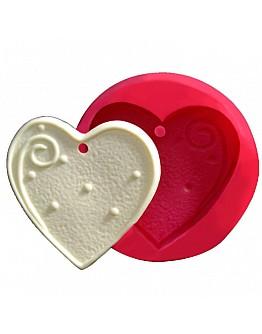 Herzform zum Aufhängen Silikonform