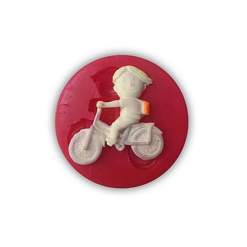 Jungs mit Fahrrad Silikonform