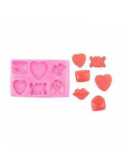 Liebes Set Lippe Brief Herz Cupcake Torten Dekoration  Silikon Form