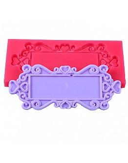 Rechteck Rahmen mit Motiv  Silikon Form 11 x  5 cm