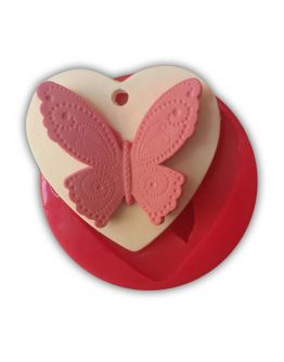 Schmetterlinge in Herzform Silikonform