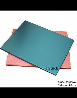 Tortenplatte / Cake Board Rechteck Blau 35x45 cm 5 stk.