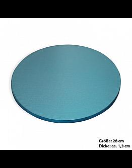 Tortenplatte / Cake Board Rund Blau 28 cm