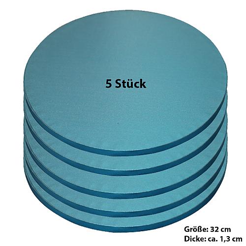 Tortenplatte / Cake Board Rund Blau 32 cm 5 Stück