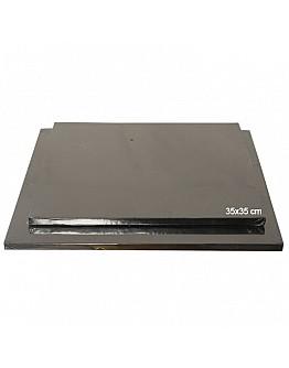 Tortenplatte / Cake Board Quadrat Schwarz 35x35 cm