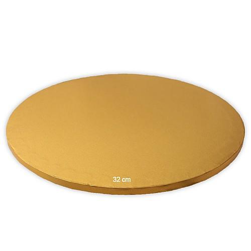 Tortenplatte / Cake Board Rund Gold 32 cm