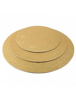 Rund Tortenunterlage Gold 3'er Set