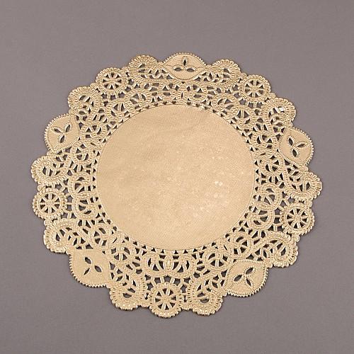 Torten Spitzenpapier Gold 30 cm