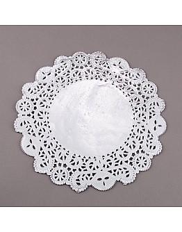 Torten Spitzenpapier Silber 30 cm