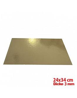Tortenunterlage / Tortenuntersetzer Gold 24x34 cm 10 stk.
