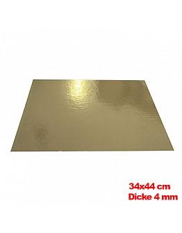 Tortenunterlage / Tortenuntersetzer Gold 34x44 cm 10 stk.