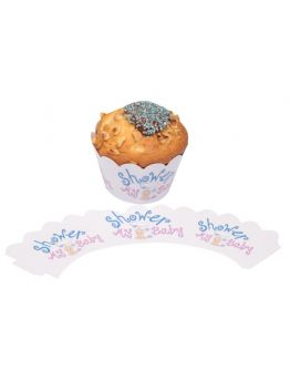 Baby Shower Thema Cupcake / Muffin  Wrapper