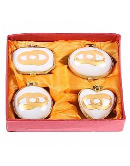 Verlobungs Ringe Thema Geschenk Schachtel 4'er Set