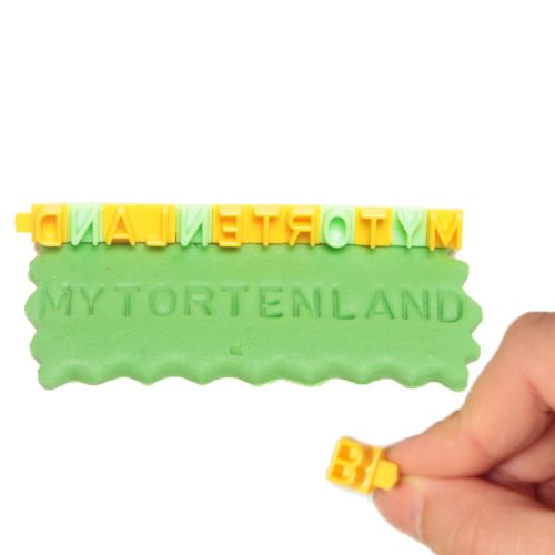 A-z  Set  Buchstaben Keks / Fondant / Teig Stempel mit Rahmen