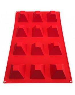 Pyramide Silikon Backform 40x60 cm 12 Törtchen formen
