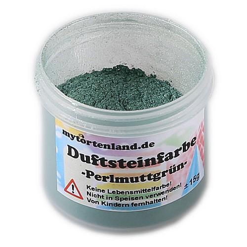 Perlmuttgrün Duftstein Pulver Farbe  15 gr