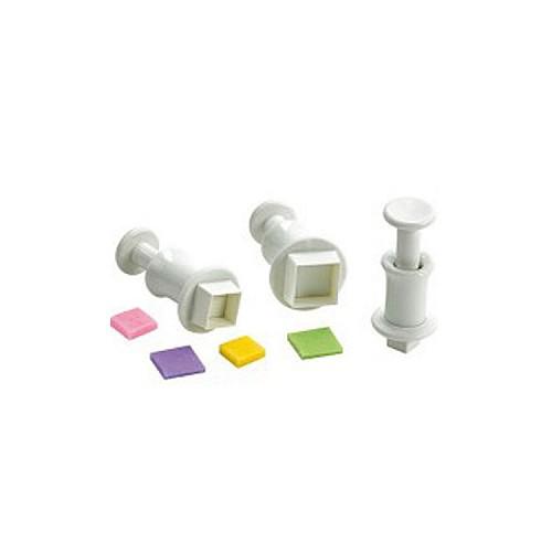 3 Quadrat Formen Kleine Ausstecher mit Auswerfer