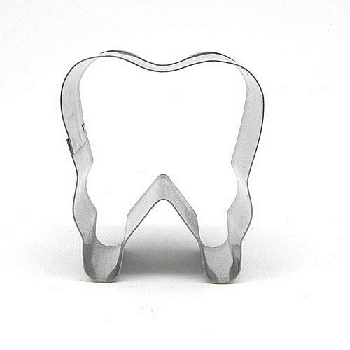 Edelstahl Keks Form Zahn plätzchenformen ca. 7 cm