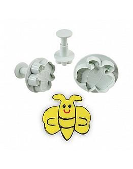 Glückliche Bienen Ausstech Formen 3'er Set