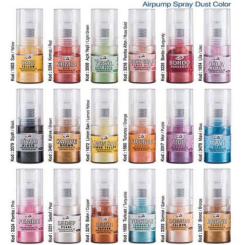 32 Farben / Air Pump Metallic Farben Spray 10 gr
