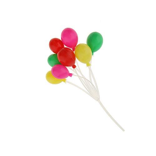 Deko Ballons für Torte Bunt