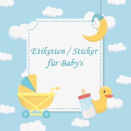 Etiketten / Sticker für Baby's